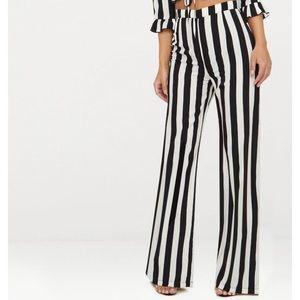 Petite Stripe Flare Pants